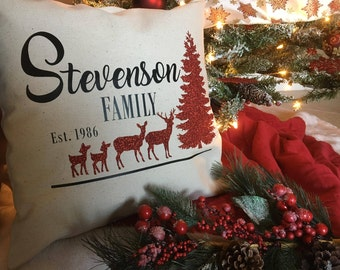 Personalized Christmas Pillow, Holiday Pillow, Personalized Christmas Gift, Christmas decoration, Custom Christmas Pillow