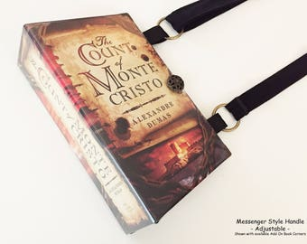 Count of Monte Cristo Recycled Book Purse - Recycled Book Cover Purse - Literature Handbag - Bookish Accessory - Alexandre Dumas Pocketbook