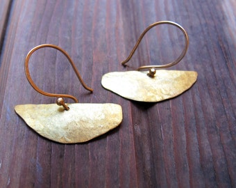 W A N D E R - Hand Crafted Brass Earrings - Artisan Tangleweeds Jewelry