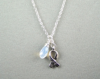 White Awareness Necklace
