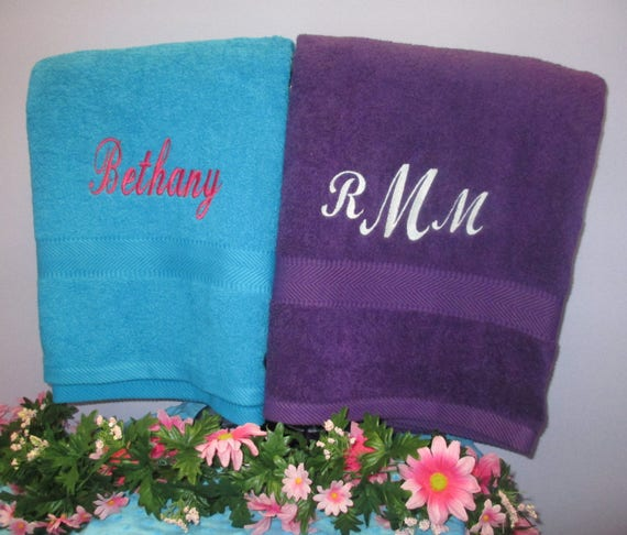 Bath Sheet Personalized Supersized-One Towel-FREE SHIPPING