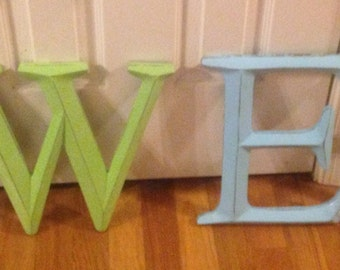 Wall Decor / Large Letter / Shabby Chic Wall Decor / Wedding Prop - 4 LEttErS - PiCK YoUR CoLOr and PIcK YOuR LeTTeR