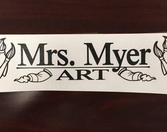 Art Teacher Subject Sticker