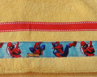 Yellow Spiderman  Hooded Towel