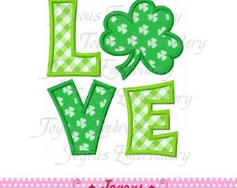 Instant Download St.Patrick's Love Leaf Clover Applique Machine Embroidery Design NO:1981