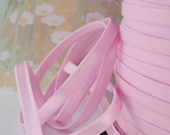5yds Satin Elastic band Trim Ribbon 1/4 inch Light Pink for diy Headbands Bra Strap Lingerie Waistband Elastic by the yard