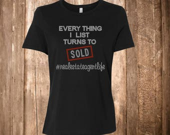 Real Estate Agent Bling Shirt - Selling Houses Shirt - Agent - Sold! -  Selling Houses - Ladies Clothing - Plus Size Available - Midas Touch
