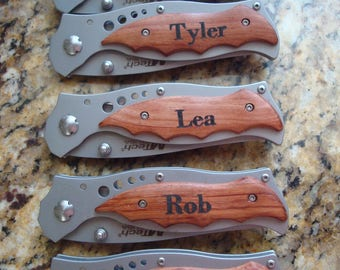 Groomsmen Gifts ,  Personalized Custom Engraved Pocket Knife Tactical Folding Knife Rescue Knife Engraved Groomsman Knives -