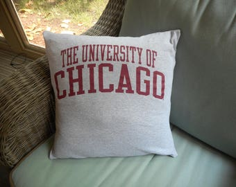 University Chicago Phoenix Pillow Cover Home Decor bedding Upcycled recycled T-shirt throw pillow housewarming gift graduation gift for him