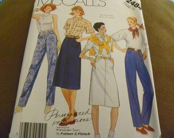 Sewing Pattern - McCall's 3484 - Misses' Jeans And Skirts - Size 10