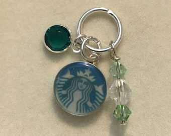 Upcycled Starbucks Gift Card Sterling Silver Pendant Charm for a Necklace