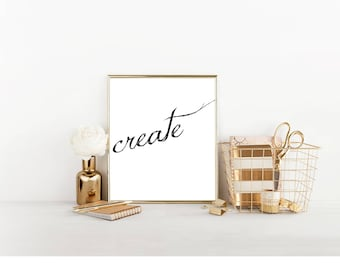 Create Digital Print, Cubicle Decor, Cubicle Wall Decor, Cubicle Accessory, Office Decor, Makers Gonna Make, Artist Wall Art