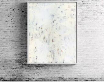 "Large Abstract Painting modern art abstract art fine art print wall art white neutral grey gray ""Highlandia 1"""