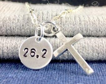 Half Marathon jewelry marathon gift, 26.2 charm 26.2 necklace, Half marathon gift, Runner gift runner necklace runner jewelry