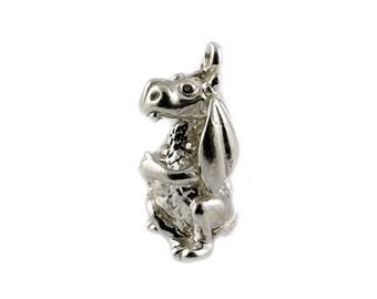 Sterling Silver Mythical Dragon Charm For Bracelets
