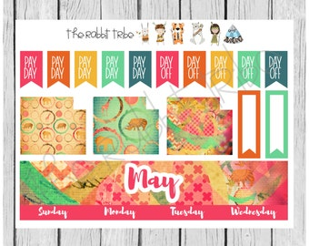 Freestyle Planning - May Monthly Kit - planner stickers