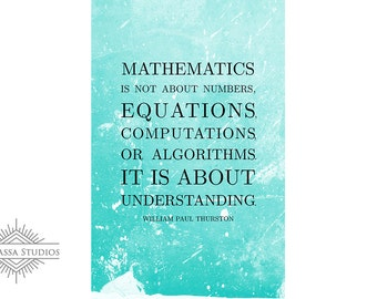 Math Poster, Quote, Mathematics, Printable Poster, Maths, Education