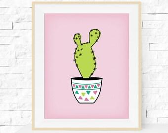 Cactus Print - Cactus Plant Garden Art Print - Botanicals Print - Home Decor - Cactus Art - Botanicals Art Print