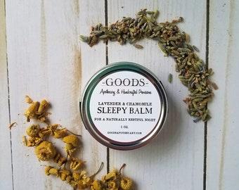 Sleepy Balm, Natural Sleep Balm, Sleep Salve, Herbal Salve, Baby Sleep Salve