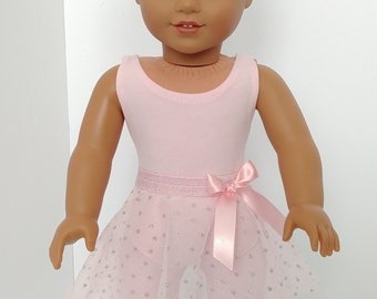18 inch doll ballet clothing. Fits like American girl .18 inch doll clothes.Pink Ballerina suit and skirt