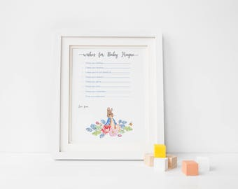 Set of Two baby shower games/ Peter Rabbit theme baby shower/ Baby shower Gift/ Baby shower games/