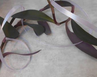 Purple satin ribbon - 6mm - 22 meters roll