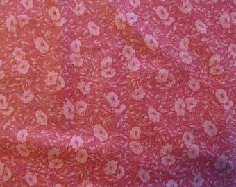 Free Shipping! Morning Glories in Pink. VIP Cranston, 1/2 Yard. 17097