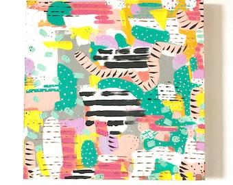 12 x 12 Original Painting / Modern Art / Abstract Art / Kids wall decor / acrylics on CANVAS / Wall Art / OOAK Abstract wall decor  office