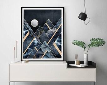 Stormy Mountains by Elisabeth Fredriksson Art Print