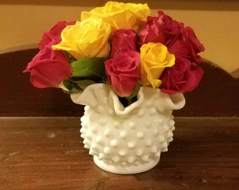 Petite Fenton Hobnail Glass Vase
