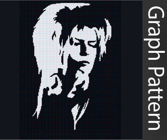 Jareth Medium Crochet Graph Pattern Labyrinth David Bowie From