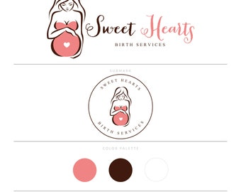 Doula Logo Design Pregnancy Logo Midwife Logo Newborn Photography Logo Photography Logo Lactation Specialist Logo Pregnancy Blog Logo