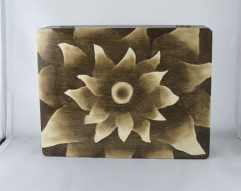 Wood Stain Art on a Hinged Memory Box