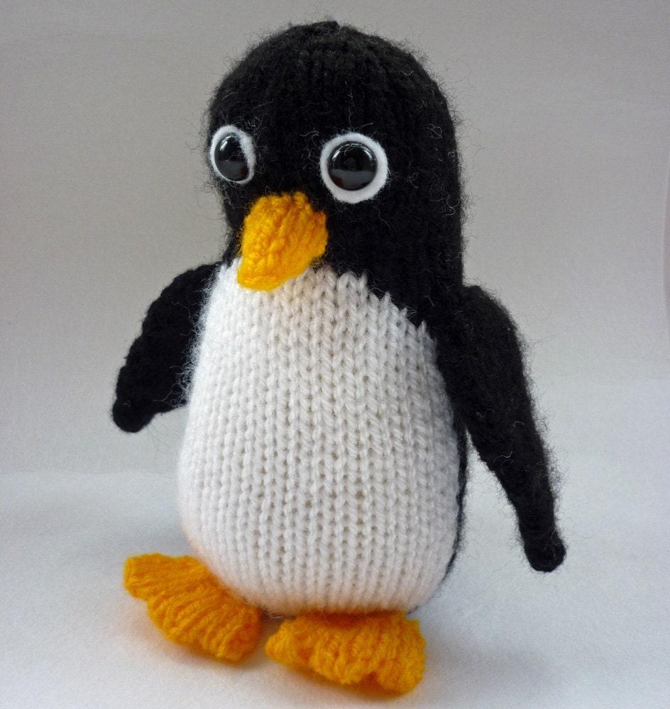 Penguin Knitting Pattern, Toy Knitting Pattern, PDF Pattern, Stuffed ...