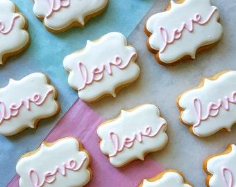 Love Plaque Cookies