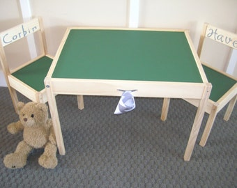 Chalkboard Table And Chair Set...in School House Green.