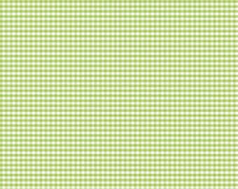 "FABRIC GINGHAM Green SMALL check 1/8"" by Riley Blake   We combine shipping"