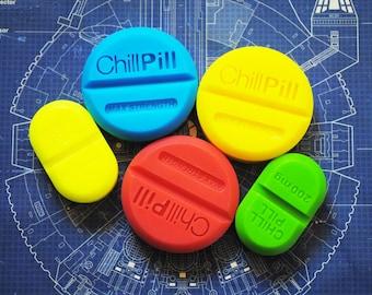 5x Handmade Chill Pill Soap – Novelty, gag soap, christmas Gift, birthday gift, novelty