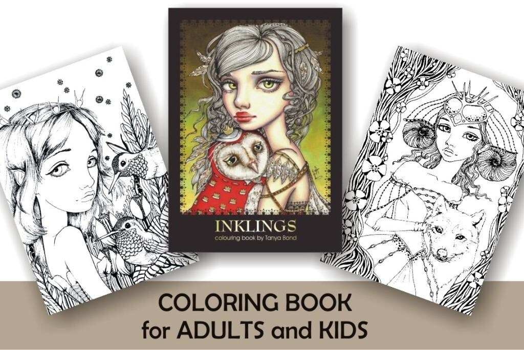 COLORING / colouring book for adults and children INKLINGS