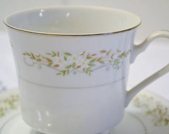 Vintage International Silver Springtime Cup and Saucer Floral Design 326 Replacement Made in Japan PanchosPorch