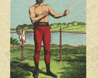 Vintage John L. Sullivan - Irish Boxer / Bare Knuckle Boxer Print