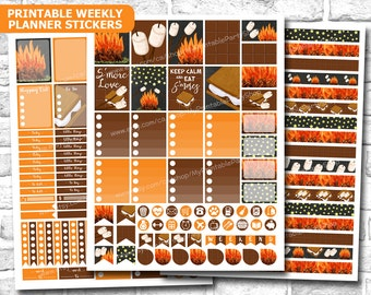 PRINTABLE Fall Planner Stickers, Autumn Planner Stickers, October Planner Stickers, November Planner Stickers, Fall Washi, INSTANT DOWNLOAD