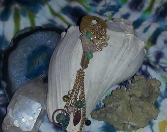 steampunk boho hippie upcycled pendant