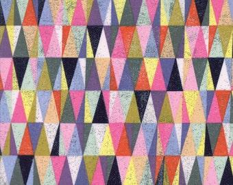 Colorful Geometric Triangle Fabric - Saturday Morning by Basicgrey from Moda - 1 Yard