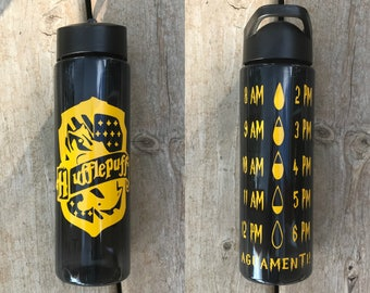 FREE SHIPPING Harry PotterWater Bottle, Hufflepuff, Gryffindor, WaterTracker,Harry Potter Gift,Harry Potter Vinyl Decal, Slytherin,Ravenclaw