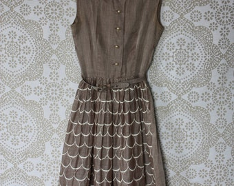 Vintage 1950's Betty Barclay Sheer Garden Party Dress XS/S