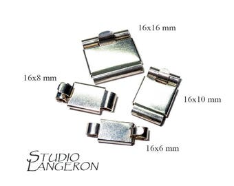 925 Sterling Silver Box Jewelry Clasps, Box clasp, Silver Clasp, Sterling silver Clasps, Rectangular clasp, 925 Silver clasp - 1 piece