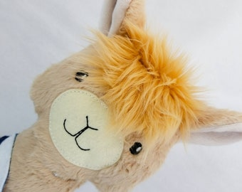 OOAK - Llama Plush - Stuffed Llama - Ready to Ship!