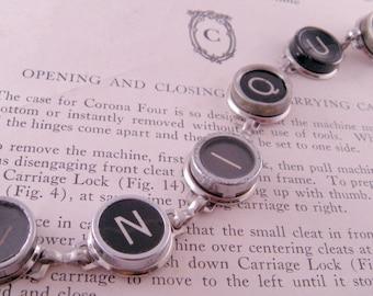 SIE wählen alle sechs Schlüssel Schreibmaschine Schlüssel Armband 7 Zoll