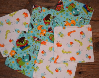 6X6 inch Kids/Baby/Toddler wash cloths Set of Six